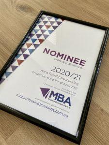 2021 Monash Business Award nomination